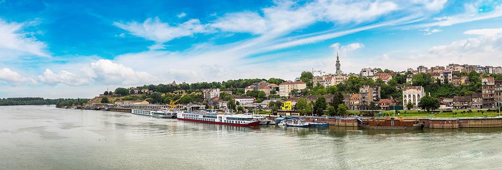 Danube in Belgrade, immage produced by MEC